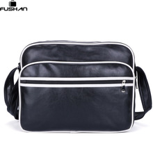 New 2017 Fashion leather Men messenger bags casual Men's travel bags Man shoulder Laptop bag Black Blue Waterproof Satchel