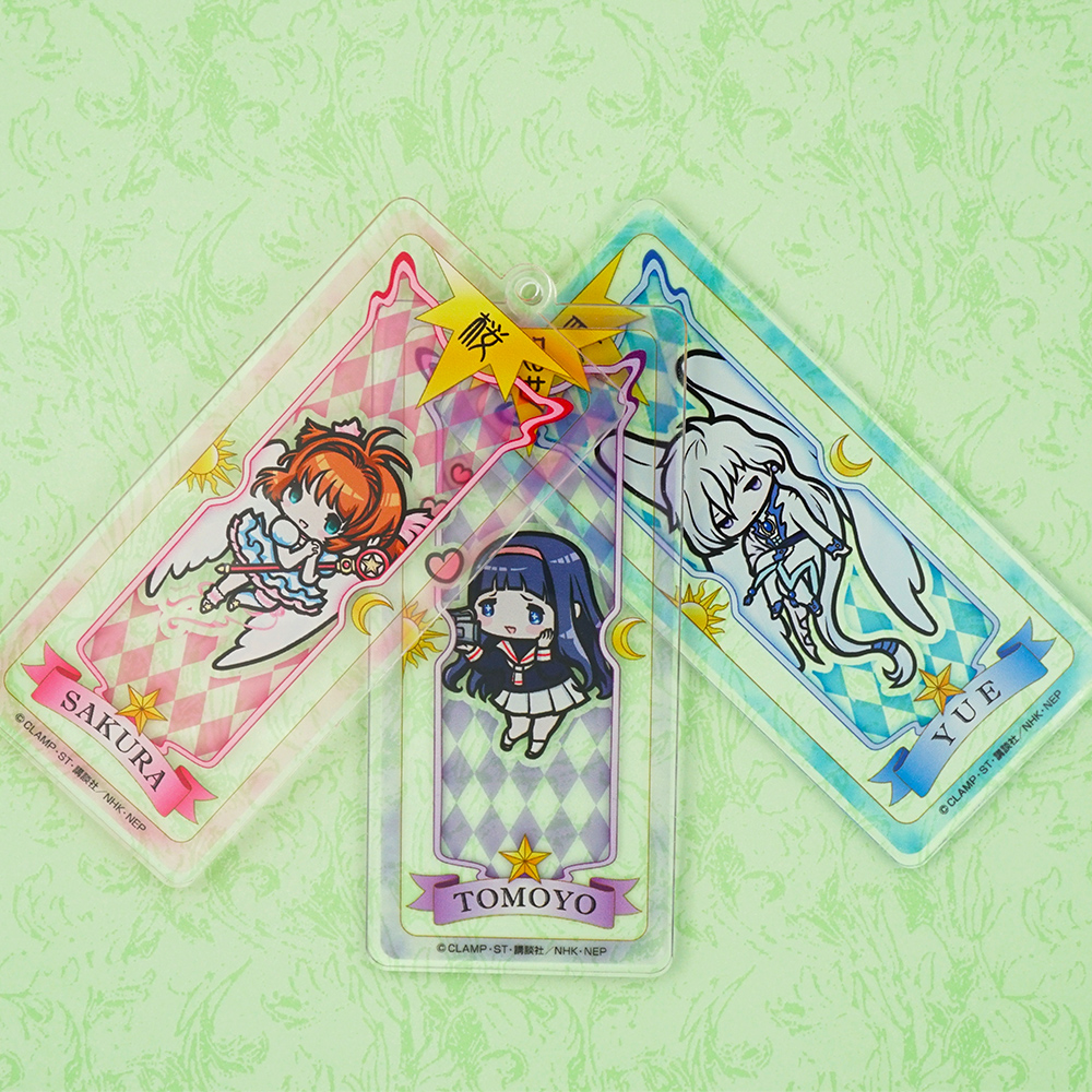 CARDCAPTOR SAKURA Clear Card Anime KINOMOTO SAKURA Yue Tomoyo The Mirror The Windy The Watery Acrylic Stand Keychain