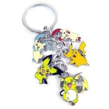 Retail 1pcs Anime Plusle Minun Raichu Pichu Keychain Pendants Figure Toys Free Shipping
