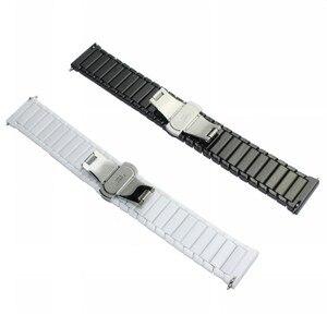 Image 3 - 22mm 20mm Ceramic Xem Nhạc Cho Samsung Galaxy Đồng Hồ 42mm 46mm Dây Đeo Bướm Khóa Thay Thế Vòng Đeo Tay strap watchbands