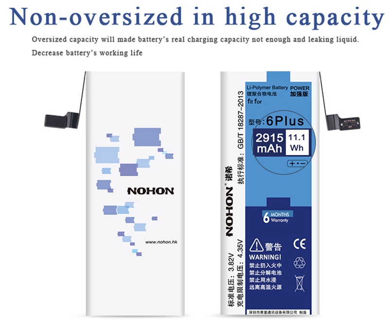 NOHON Battery For Apple iPhone 6 Plus 6P 2915mAh (7)