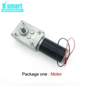 Image 3 - Bringsmart silnik prądu stałego 12V przekładnie silniki elektryczne 24 V reduktor mikro silnik wysoki moment obrotowy 70kg. cm zużyty motoreduktor + regulator prędkości