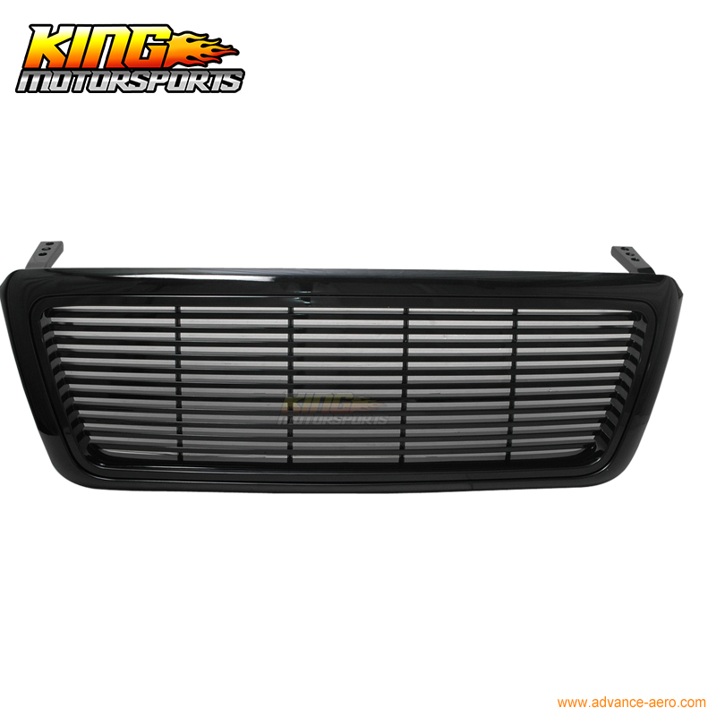 For 2004-2008 05 06 07 Ford F-150 Black Sports Front Hood Grille Grill USA Domestic Free Shipping Hot Selling for 2004 2008 ford f150 chrome vertical front hood grill grille usa domestic free shipping hot selling