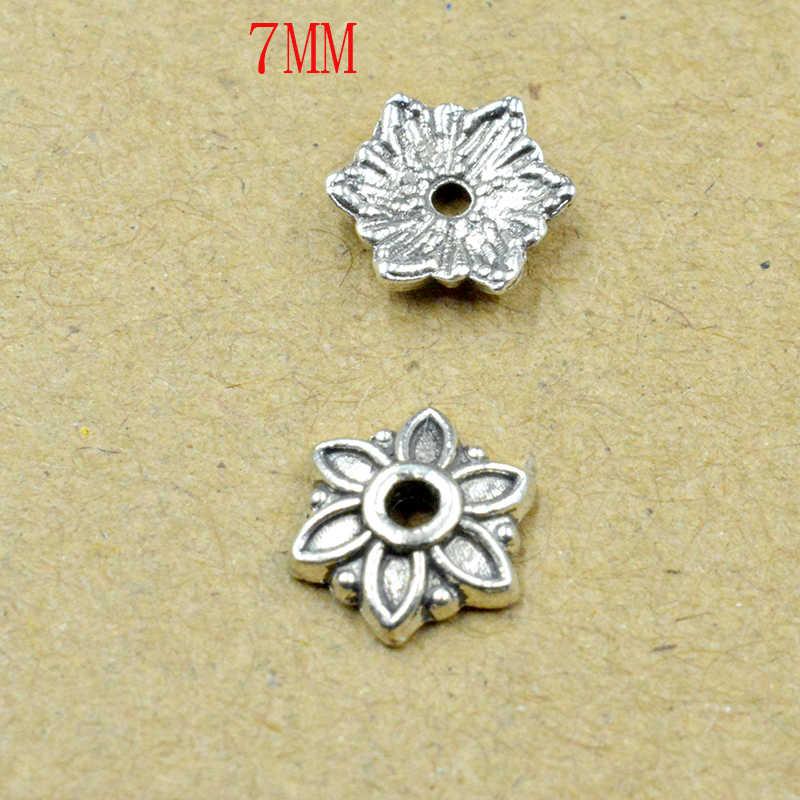 FLTMRH 20 قطع 8 ملليمتر بتلات زهرة فضفاض Sparer نهاية الخرزة قبعات للمجوهرات صنع العثور Diy سوار إكسسوارات مكون أجمعين