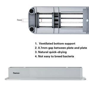 Image 4 - Fissman Anti Bacterium Plastic Chopping Block Non slip Marble Coating Plastic Mats Cutting Board with Stand 4pcs Sets