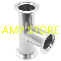 304 Stainless Steel Tee KF 40 Vacuum Fittings KF Flange Size NW 40 Quick Flange Plumbing Process Systems 55mm Ferrule OD