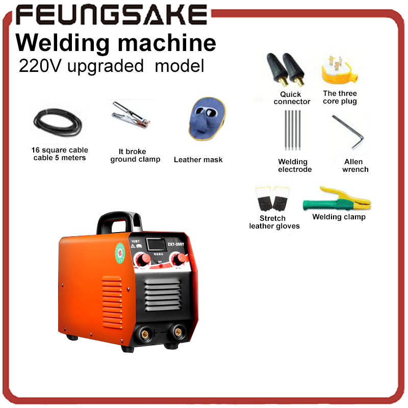 High Quality Arc Electric Welding Machine Portable Welder for Welding Working and Electric Working Equipment ,Flagship portable arc welder household inverter high quality mini electric welding machine 200 amp 220v for household