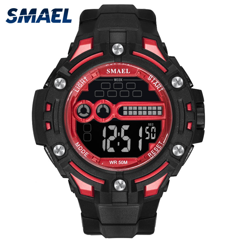 Digital Watch Waterproof SMAEL Watch Top Brand Luxury 2018 S Shock Men Watches 1526 Military Mens Watches Led Sport Wristwatches