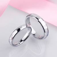 New Arrival Couples Ring Set White Tungsen Band High Polished Scratch Proof 3 2MM 4MM Free