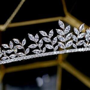 Image 2 - ASNORA الفاخرة بلورات الزفاف تيارا nupcial الزفاف مجوهرات العروس إكسسوارات الشعر تيارا دي بودا