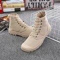 ZCHEKHEN Outono Casuais unisex Moda de Alta-top mulheres e homens das sapatas de lona Confortáveis Ankle Boots Femininas