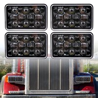 4pcs Dot approved 4x6 inch Rectangular Sealed Beam headlight 4x6 LED truck headlamp replacement for Kenworth T800 T400 T600