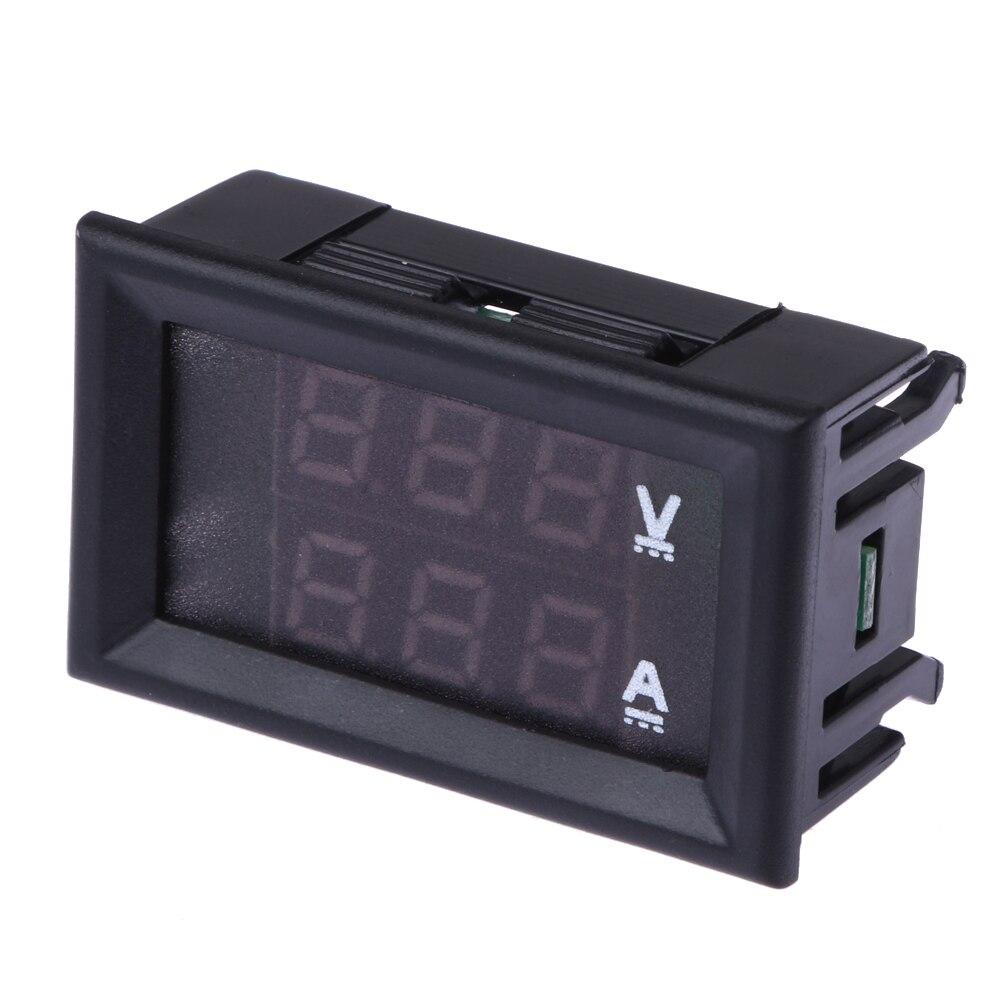 Top Quality Dc 100v 10a Voltmeter Ammeter Blue Red Led Amp Dual Digital Display Lcd Panel Volt Meter 100a Gauge Ng4s