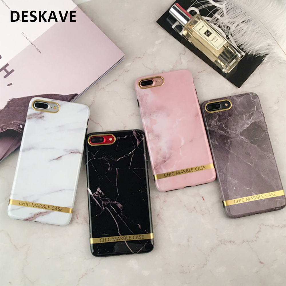 fashion ins style marble phone case for iphone 5 5s se 6s 7 x