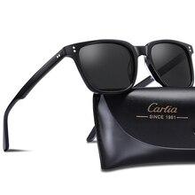 كارفيا الرجال الاستقطاب النظارات الشمسية خمر مربع نظارات موضة ريترو نظارات شمسية العلامة التجارية مصمم القيادة 100% UV حماية