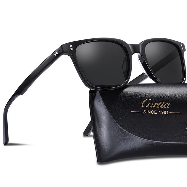 Carfia男性の偏光サングラス眼鏡ファッションレトロサングラススブランドデザイナードライビング 100% uv保護