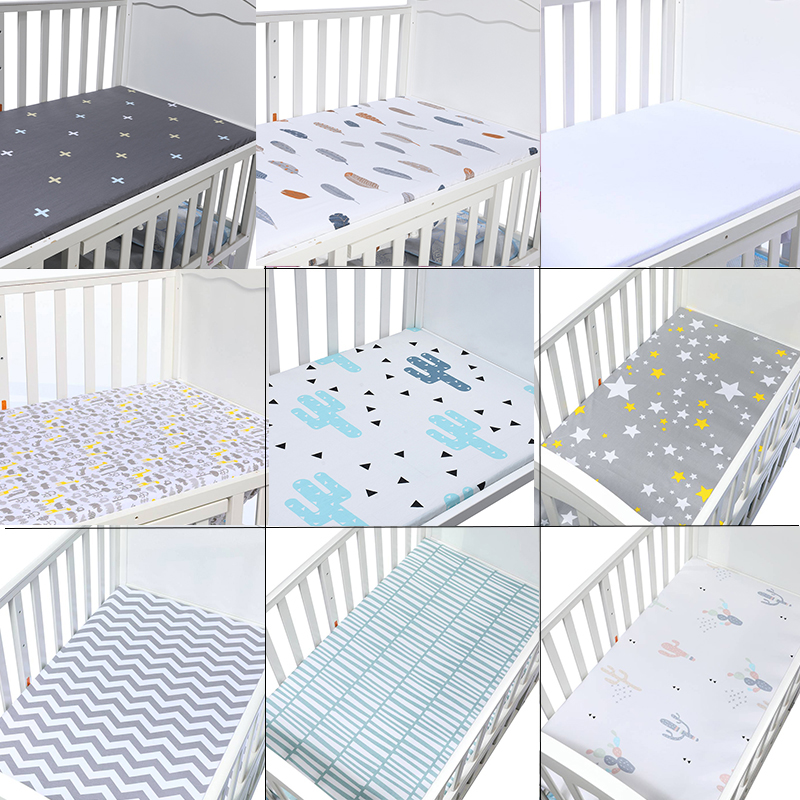 Newborn Bebe  Portable/Mini Crib Sheet Bed Sheet Fitted Crib Sheet Soft Baby Bed Mattress Cover 130*70 Cm Baby Crib Baby Cot