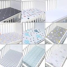 Newborn bebe Portable/Mini Crib Sheet Bed Sheet Fitted Crib Sheet Soft Baby Bed Mattress Cover 130*70 cm baby crib baby cot