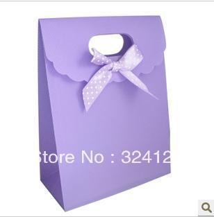 20pcs/lots 25.5*18.5*8cm recycled sweet purple PP gift packaging bag,thickening holiday gift bag,birthday gift bag Free shipping