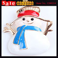 Holiday Snowman Xmas Golden Brooch Colorful Enamel Piant Alloy Cartoon Figure Christmas Brooch Pin Scarf Buckle Badge Jewelry