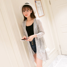 2016 summer sweater women Long knitted cardigan women Sunscreen gilet femme manche longue pull femme female