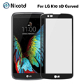 Tempered Glass For LG K10 Screen Protector 3D curved edge Tempered Glass For LG K10 Full cover Protector Film For K10