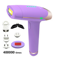 400000 times 2in1 Lescolton depilador a laser Epilator laser hair removal For Whole Body Bikini underarm Electric Epilator T009S