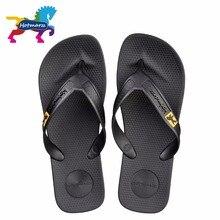 Hotmarzz 남자 플립 플롭 비치 플랫 샌들 디자이너 슬리퍼 여름 신발 패션 슬라이드 고무 나 막 신 Zapatos Hombre