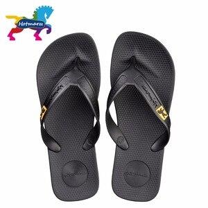 Image 1 - Hotmarzz 男性フリップは、ビーチフラットサンダルデザイナースリッパ夏の靴のファッションスライドゴム下駄 zapatos hombre