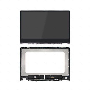 14'' For Lenovo Yoga 530-14IKB 81EK 530-14ARR 81H9 IPS FHD LCD Panel Display Screen Touch Glass Digitizer Assembly with Bezel