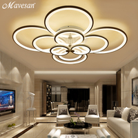 Remote Control Ceiling Lights Modern For Living Room Bedroom Hallway Home Light Fixtures Acrylic Aluminum Body