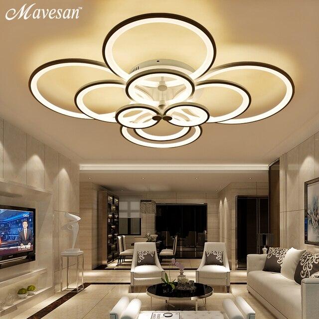 Fernbedienung Deckenleuchten Moderne Für Wohnzimmer Schlafzimmer Flur Home  Leuchten Acryl Aluminium Körper Lampe Dimmer