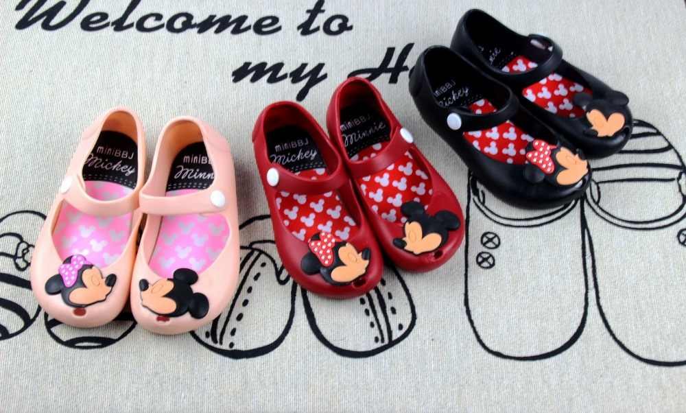 aec87d4071e5 ... Minnie Mouse Shoes Baby Boy Girl Sandals Cartoon Minnie Shoe Kid Summer Beach  Jelly Shoe Infantil ...