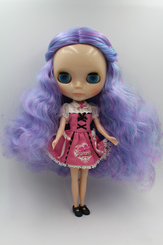 купить Free Shipping big discount RBL-259DIY Nude Blyth doll birthday gift for girl 4colour big eyes dolls with beautiful Hair cute toy дешево