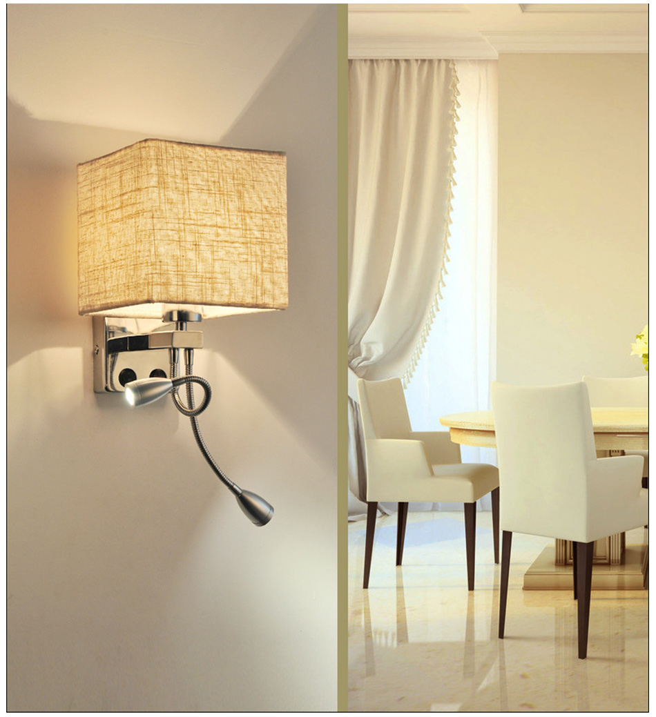 Wall Lamp Sconce Switch Stairs Light Luminaires Fixture E27 Bulb Bedroom Decor Bathroom Modern Bedside Lighting Wall Mounted (18)