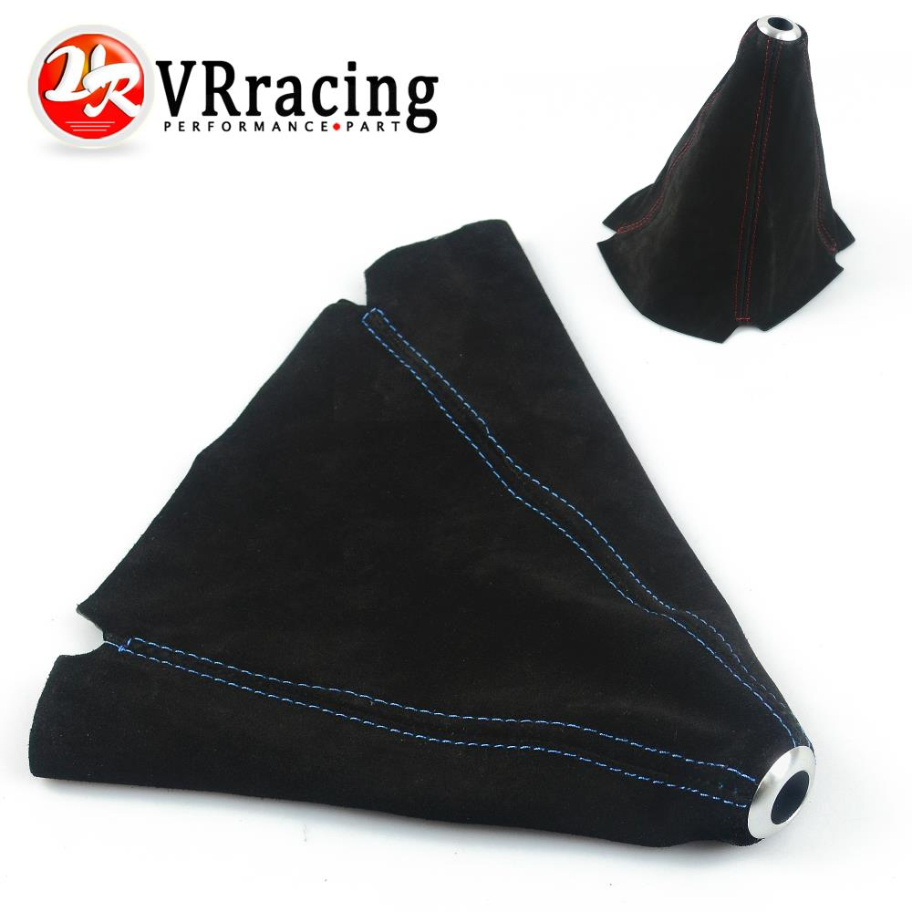 VR RACING - Suede leather Red/Blue JDM Stitch Shift Knob Shifter Boot Cover MT/AT VR-SBC11
