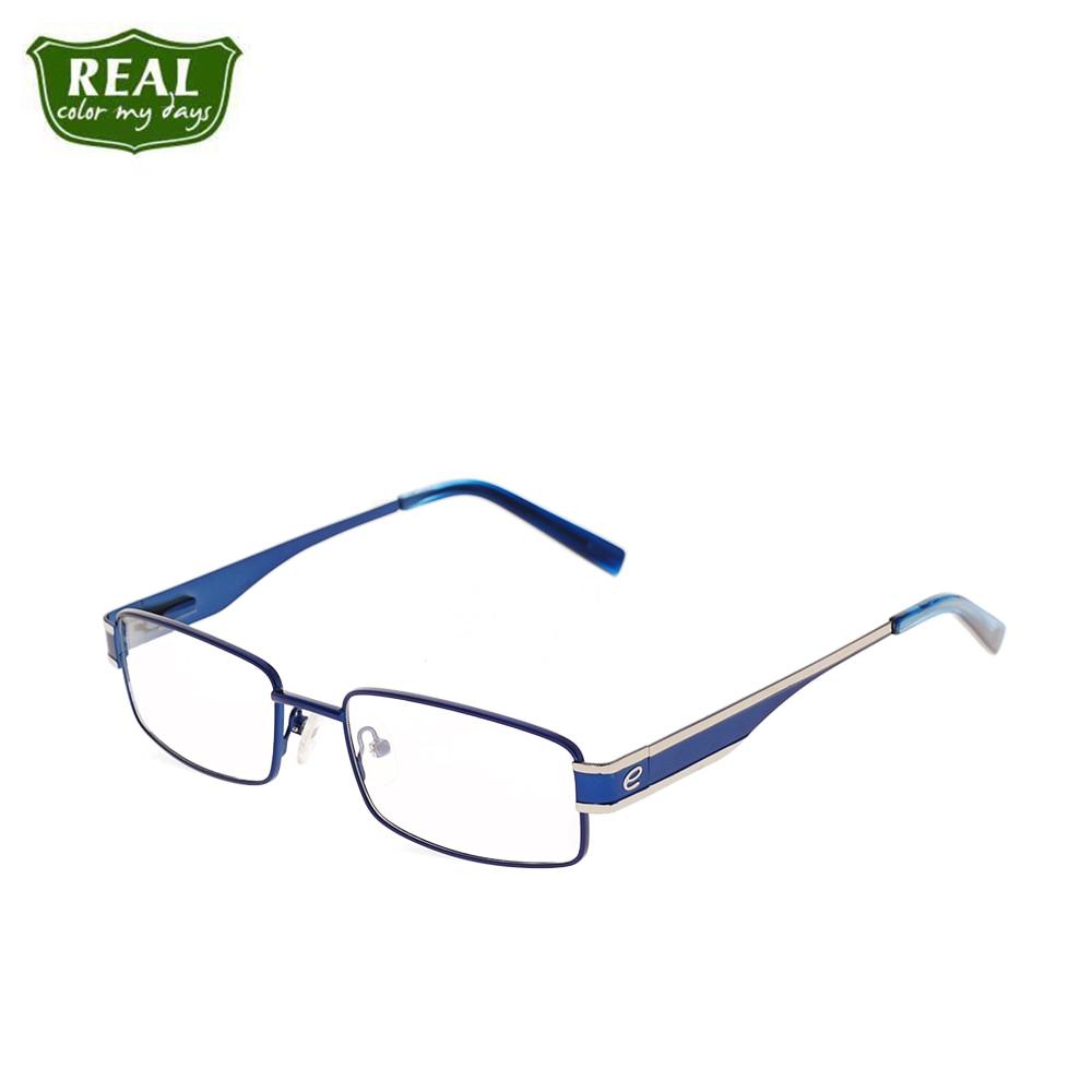 Men Optical Frame Vintage Style Metal Frame Rectangle Shape Stainless Steel Myopia Eyewear Accessories EC203