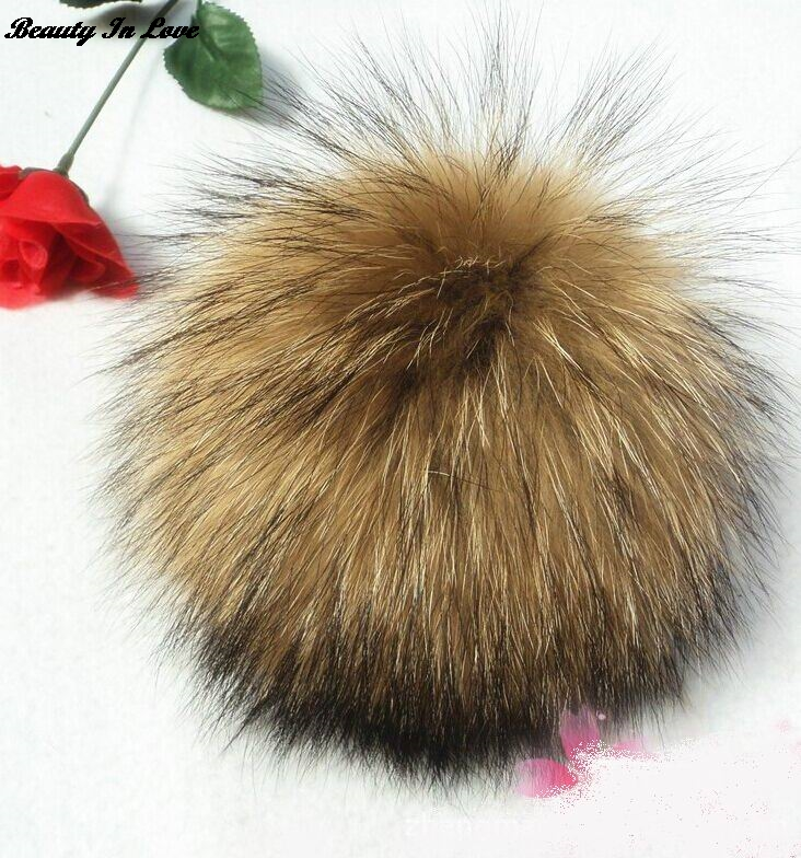 Beauty In Love 15pcslot Real Ball Fur Pompom Keychain