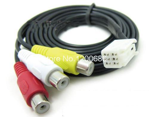 Audio Video Input Cable for Lexus Toyota 25CM