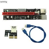 50pcs PCI E PCI E Express 1X To 16X Graphics Riser Extender Card SATA 15 Pin