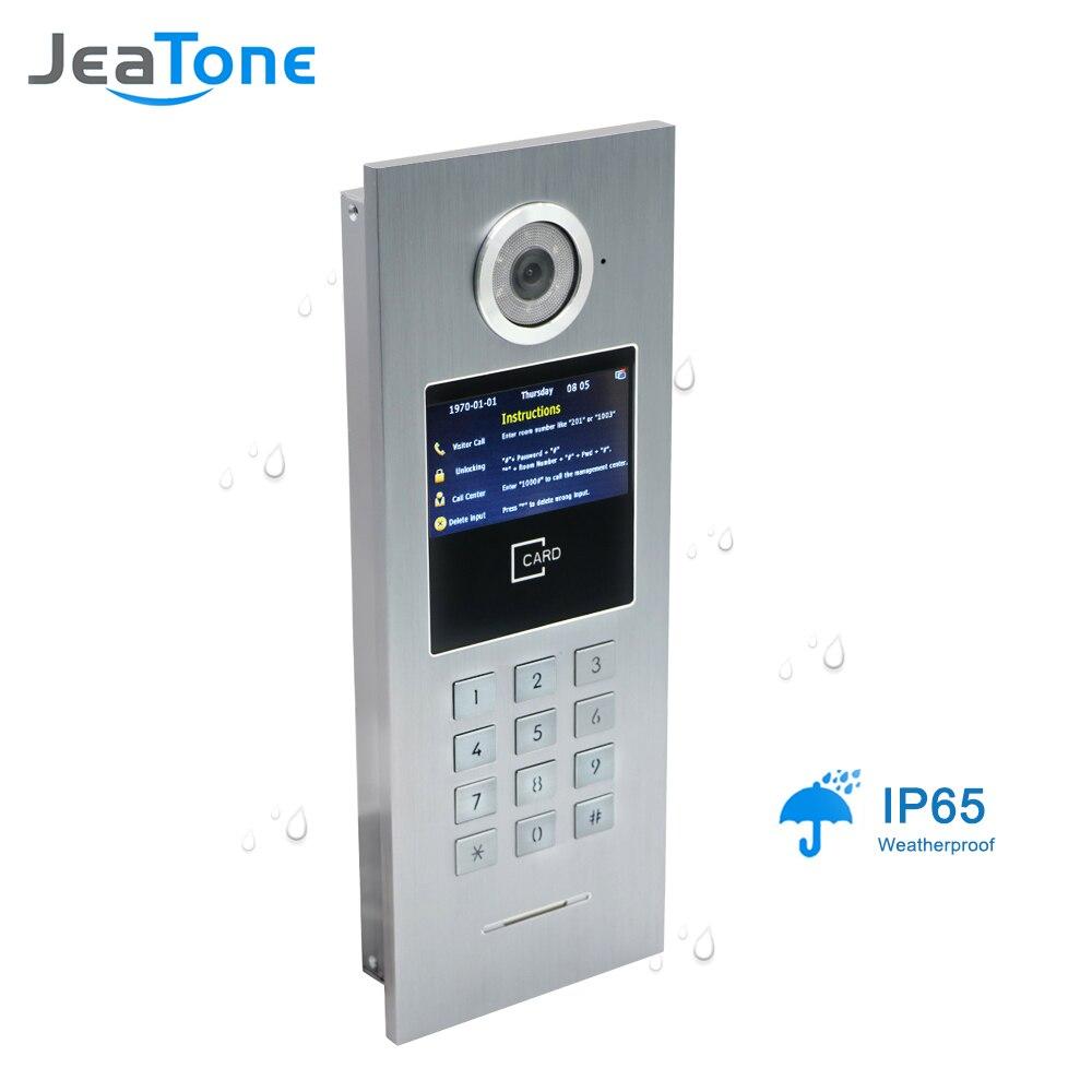 Image 4 - 7 pantalla táctil WIFI Video puerta teléfono IP Video intercomunicador para construir el sistema de Control de acceso compatible con contraseña/tarjeta IC con interruptor-in Video-portero automático from Seguridad y protección on AliExpress