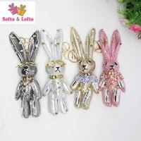 Korea PU punk rabbit dolls,DIY accessory mobile phone chain key ring,brooch party dress handbag accessories girls lady gifts