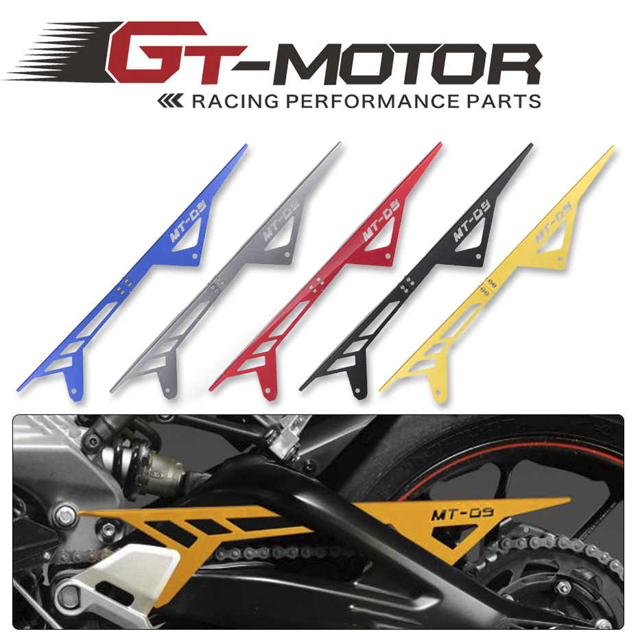 GT Motor - Motorcycle MT09 FZ09 CNC Aluminum Chain Guards Cover Protector For Yamaha MT-09 FZ-09 2013 2014 2015 2016 mt09 mt 09 2014 2016 water coolant recovery tank shielding guard frame cover protector for yamaha mt 09 fz 09 fz09 cnc