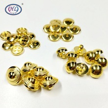 HL 4 Styles Plating Gold Metal Buttons DIY Accessories Garment Sewing Notions 100pcs