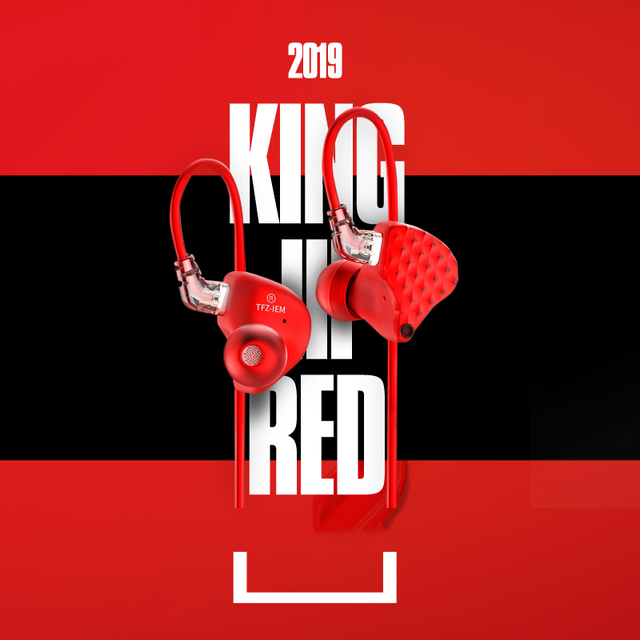 TFZ KING III Red Limited Edition Dynamic Monitor In-Ear Earphones with Detachable cable 5