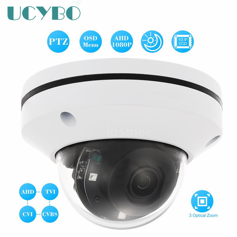 2inch AHD 1080P mini dome ptz camera 2mp sony cmos IR night vision outdoor pan tilt zoom cctv HD analog AHD surveillance kamera hd 1080p pan