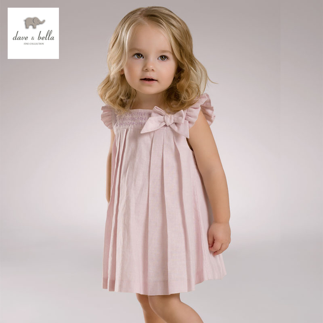 9a5e33484 DB3406 dave bella summer baby girl bow princess dress baby cute dress kids  birthday clothes dress