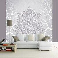 European Classic Wall Paper Home Decor Background Wall Damask Wallpapers Pattern 3D Velvet Wallpaper Living Room