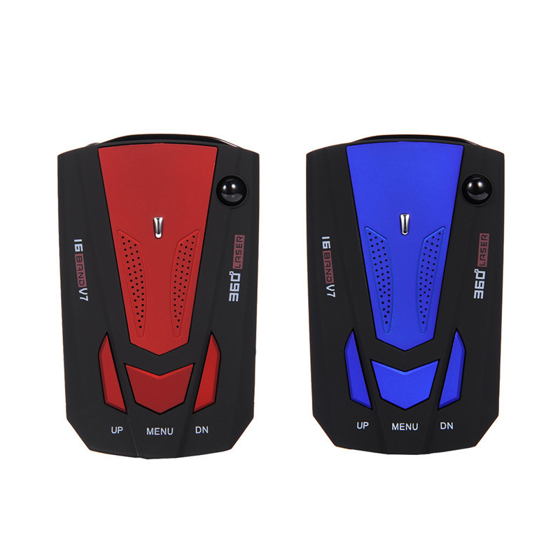 1 Set Blue Red Russian English Voice 360 Degree Anti Police V7 For Car Speed Limited Radar Detector