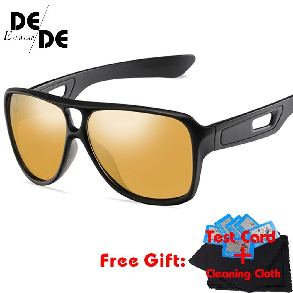 DesolDelos Men Polarized Sunglasses Luxury Brand PC Frame Glasses Women Bright Black UV400 Goggles Gafas De Sol K1040 in Men 39 s Sunglasses from Apparel Accessories